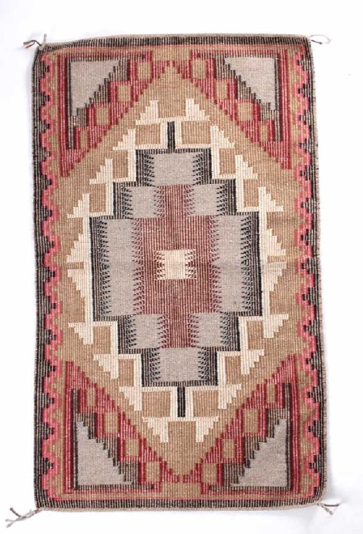 Navajo Ganado Wool Hand Woven Rug - 4