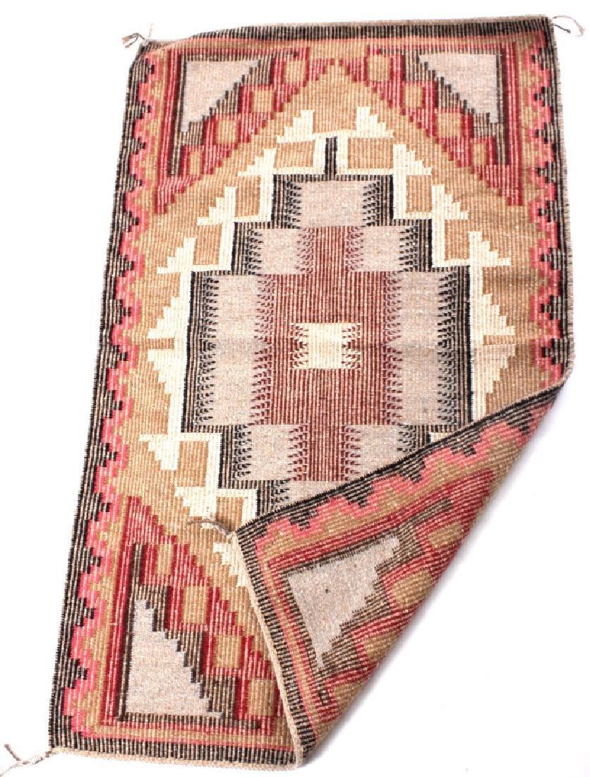 Navajo Ganado Wool Hand Woven Rug - 5