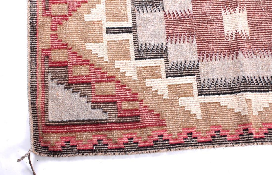 Navajo Ganado Wool Hand Woven Rug - 6