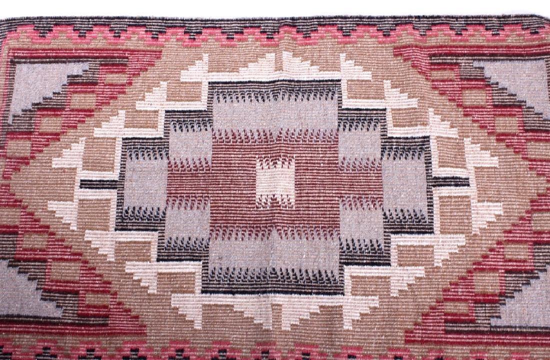 Navajo Ganado Wool Hand Woven Rug - 7