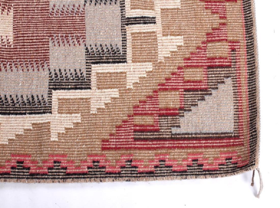Navajo Ganado Wool Hand Woven Rug - 8