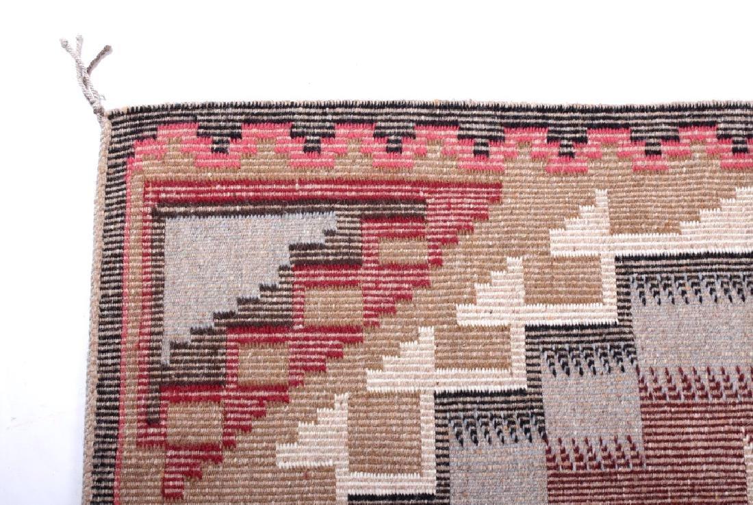 Navajo Ganado Wool Hand Woven Rug - 9