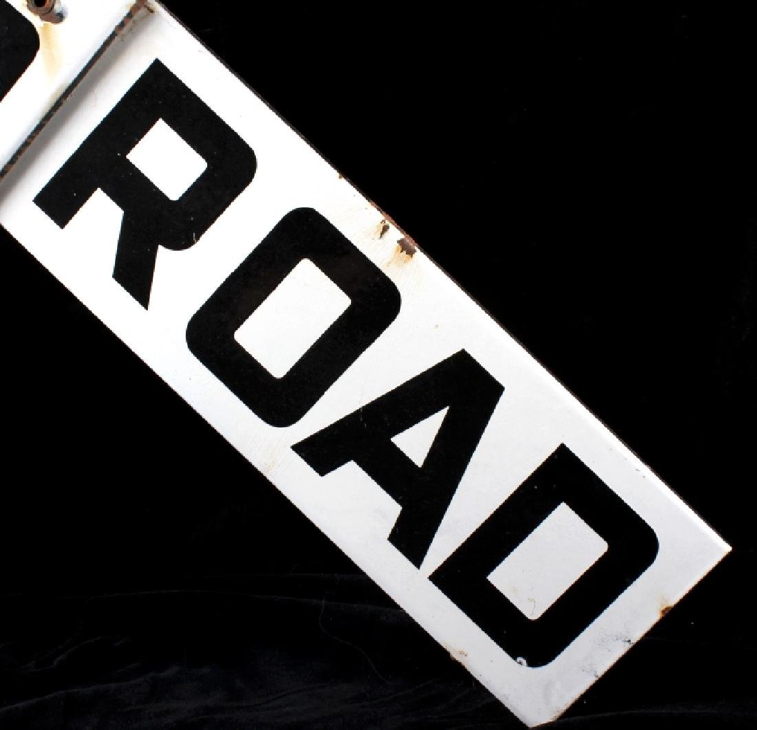 Metal Railroad Crossing Sign - 5