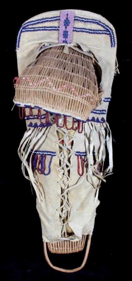 Paiute Beaded Doll Child's Papoose c. 1900-1930