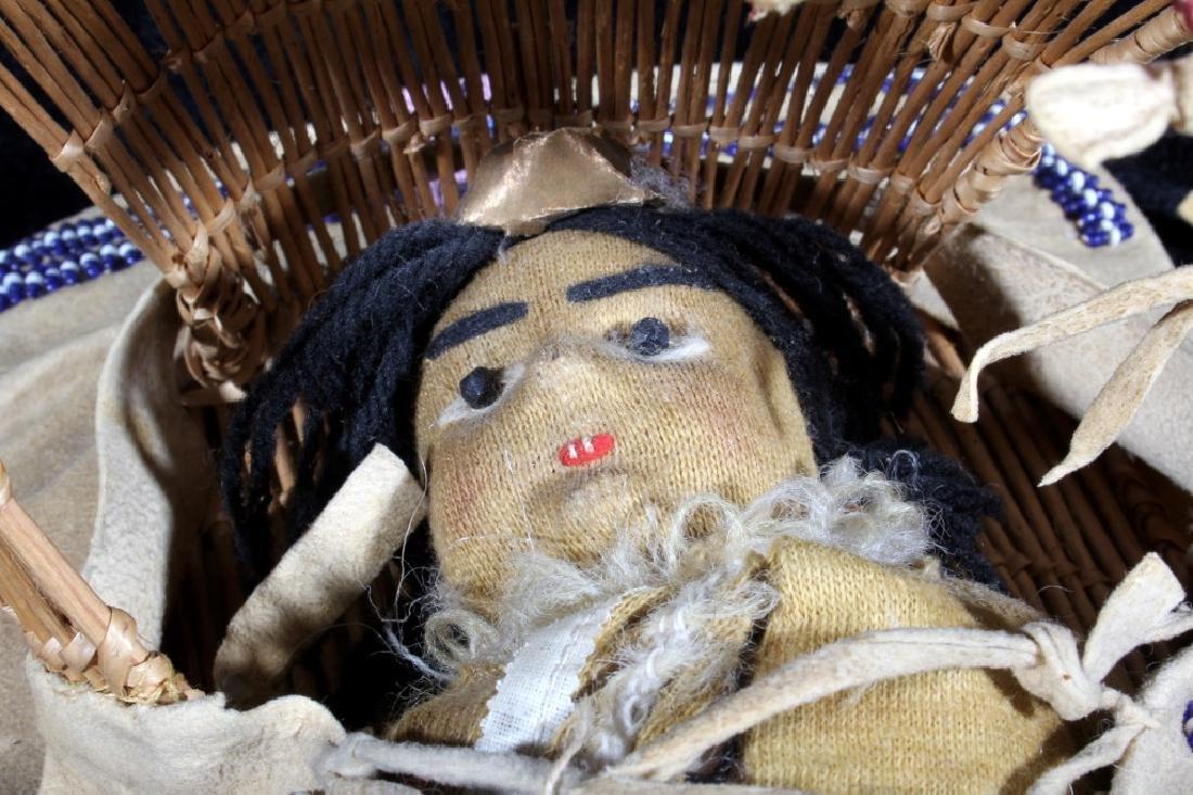 Paiute Beaded Doll Child's Papoose c. 1900-1930 - 4