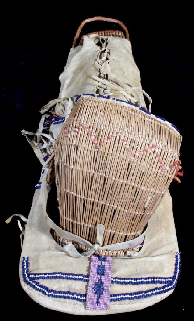 Paiute Beaded Doll Child's Papoose c. 1900-1930 - 9