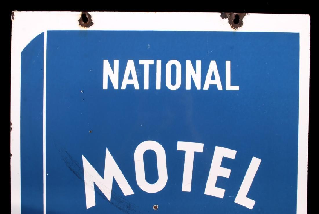 RARE Blue Book Approved Motel Porcelain Sign - 3