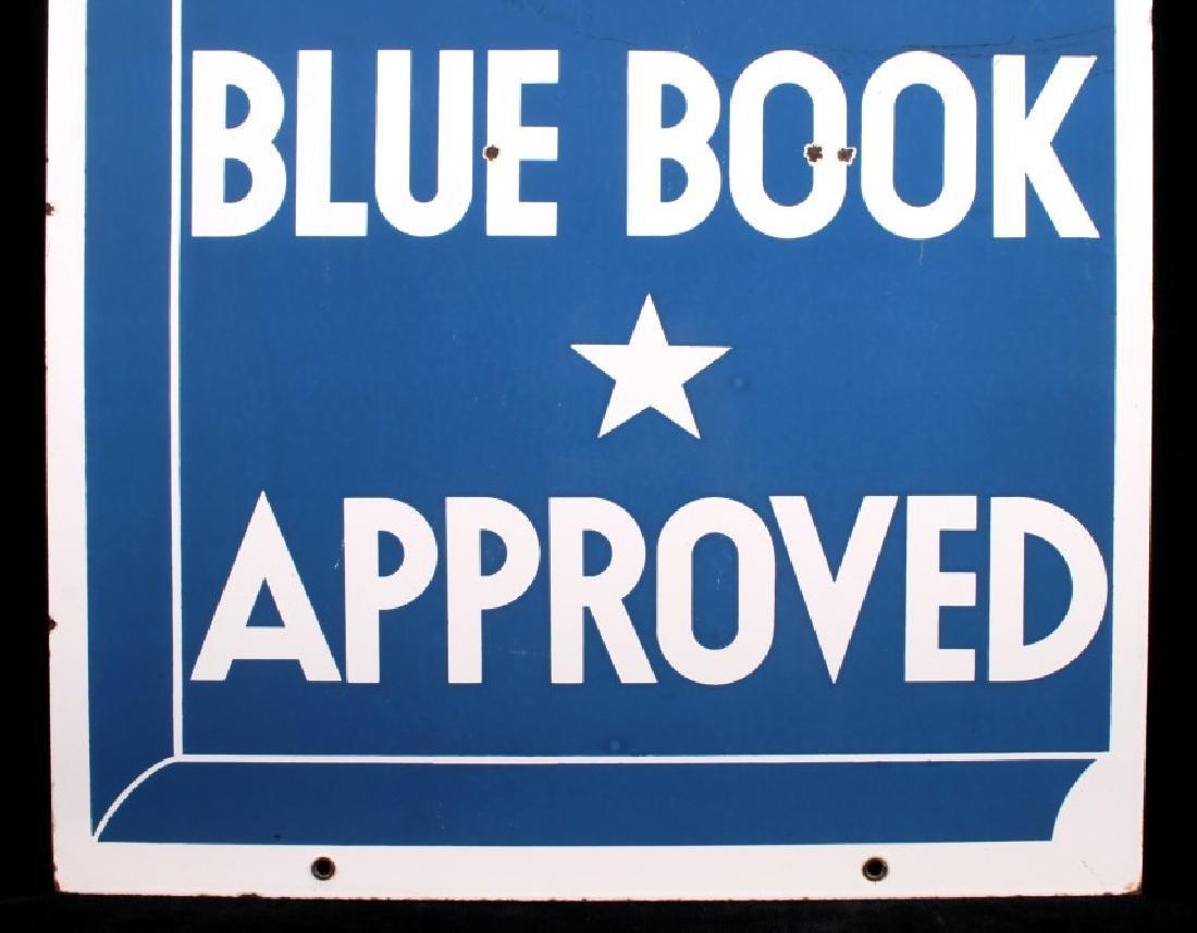 RARE Blue Book Approved Motel Porcelain Sign - 4