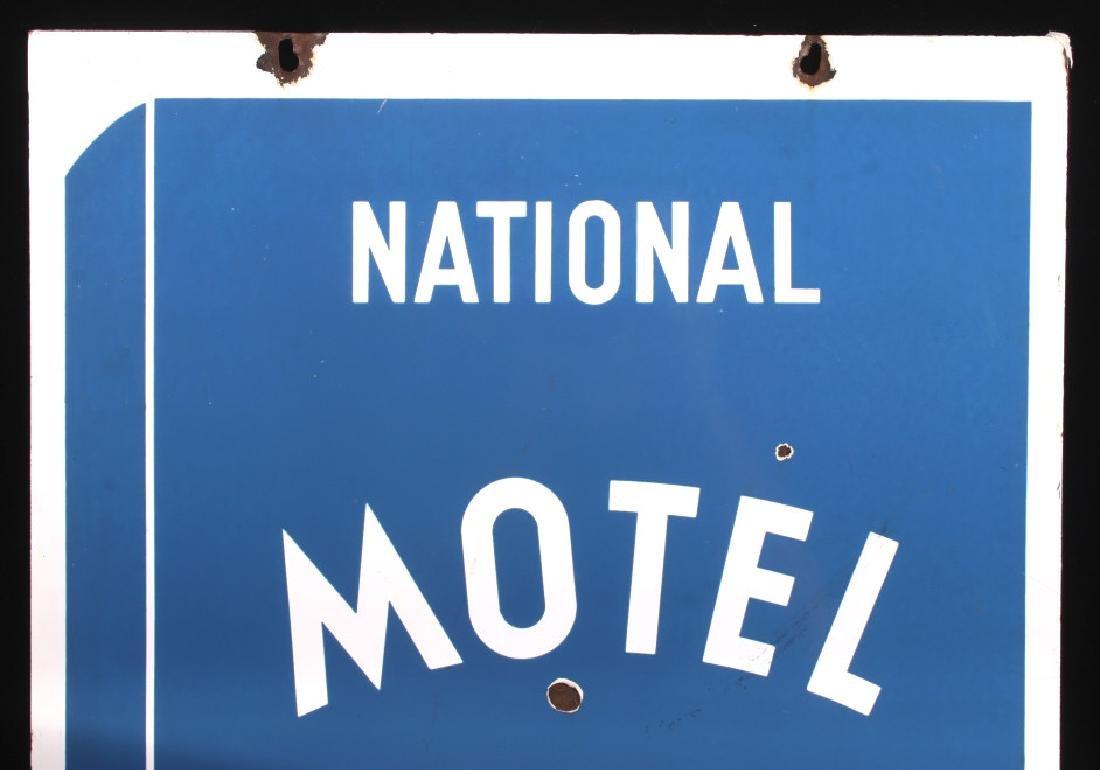 RARE Blue Book Approved Motel Porcelain Sign - 6