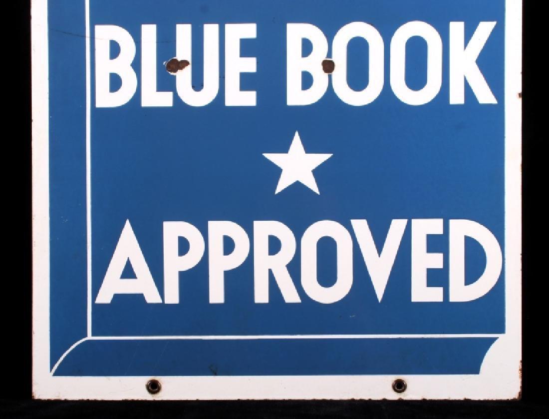 RARE Blue Book Approved Motel Porcelain Sign - 7