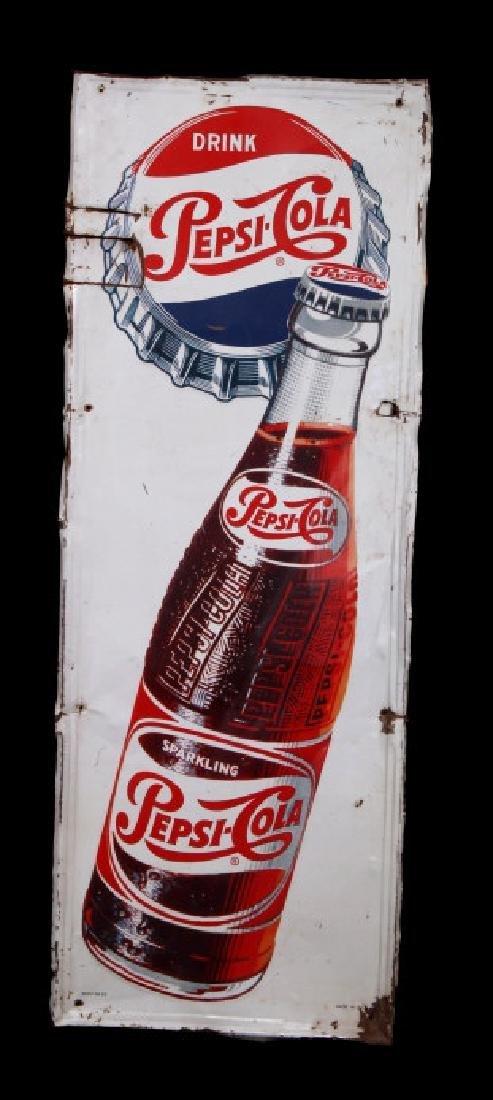1950's Vintage Drink Pepsi-Cola Advertising Sign