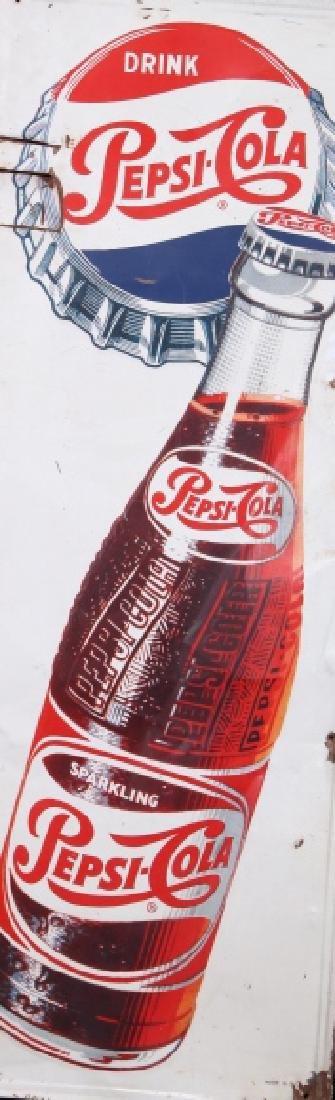 1950's Vintage Drink Pepsi-Cola Advertising Sign - 2