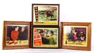Framed 1950s Western Movie Lobby Card Collection