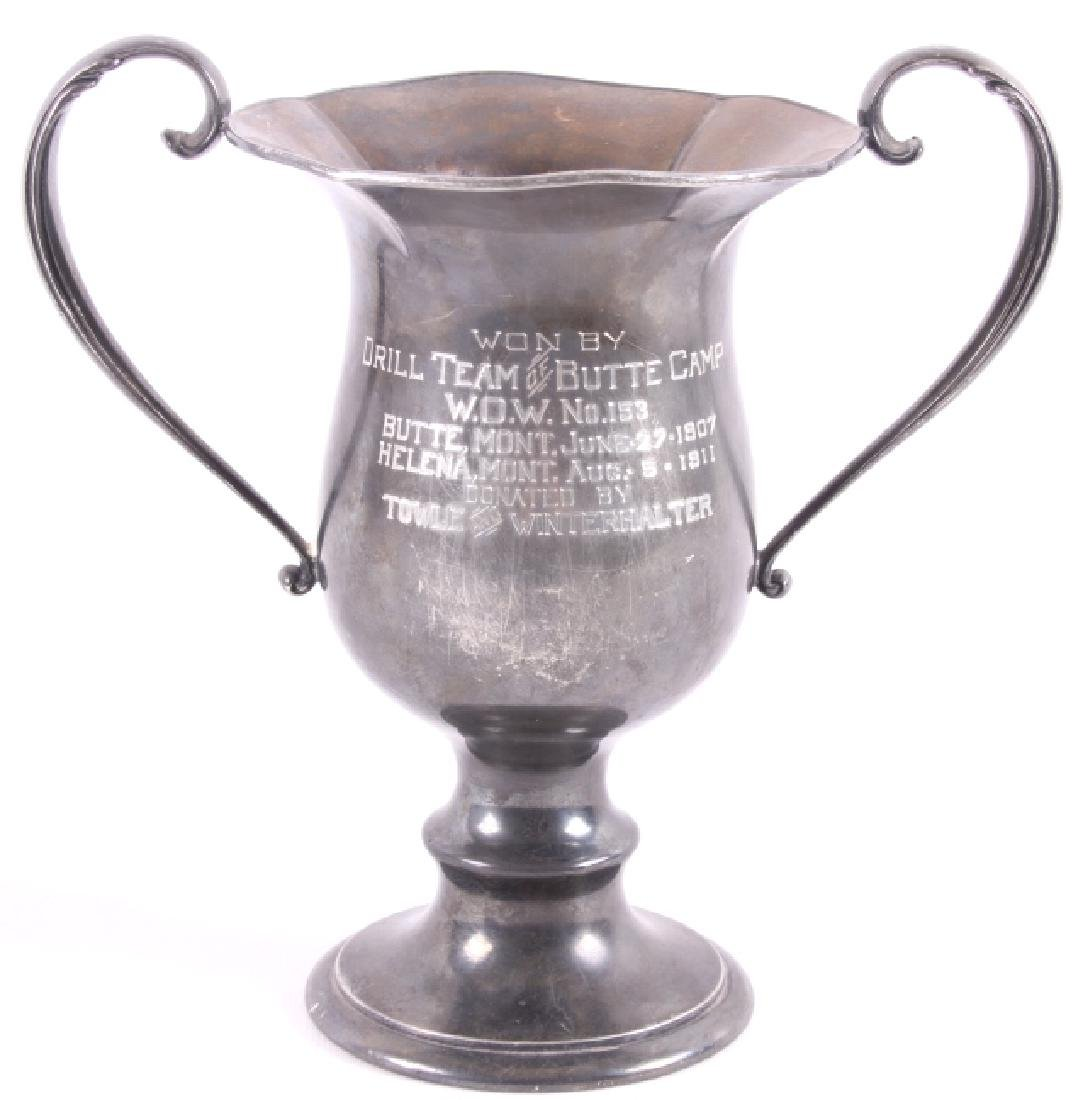 Drill Team of Butte Camp Silver Plate Trophy c1911