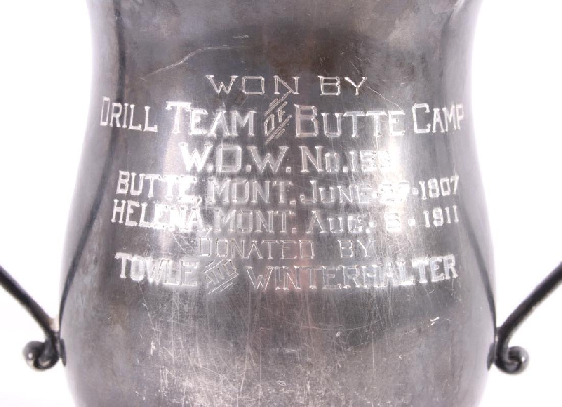 Drill Team of Butte Camp Silver Plate Trophy c1911 - 2