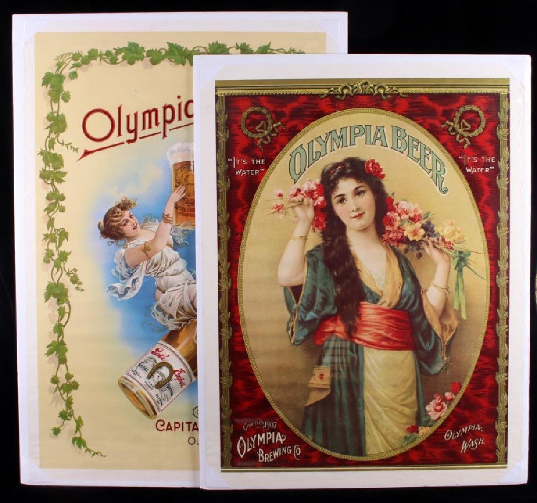 Vintage Olympia Beer Advertising Posters c. 1970's