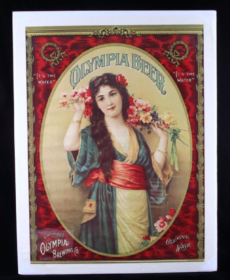 Vintage Olympia Beer Advertising Posters c. 1970's - 2