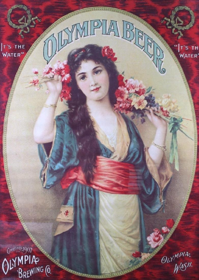 Vintage Olympia Beer Advertising Posters c. 1970's - 6