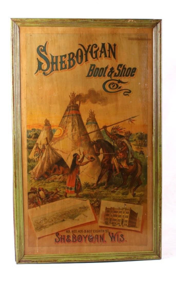 Sheboygan Boot & Shoe Co. Vintage Advertising Sign