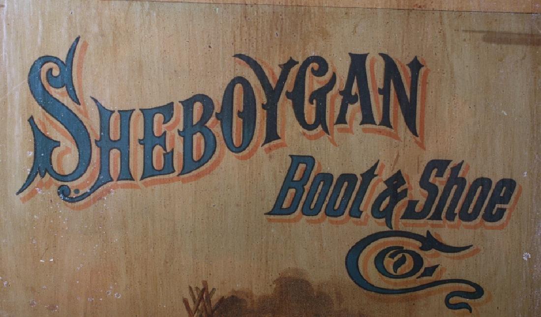Sheboygan Boot & Shoe Co. Vintage Advertising Sign - 3