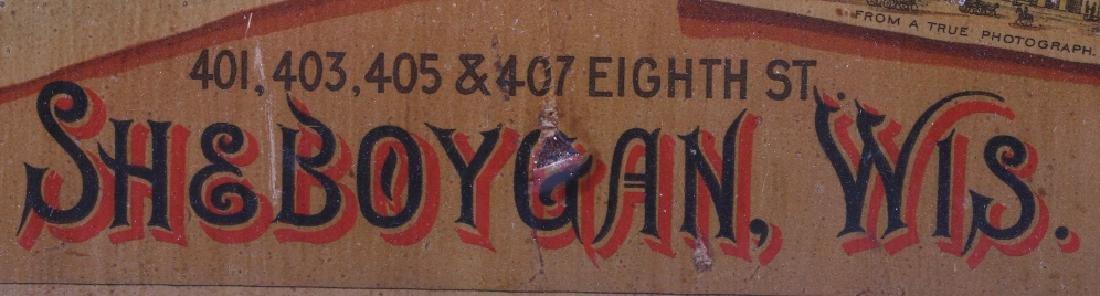 Sheboygan Boot & Shoe Co. Vintage Advertising Sign - 4