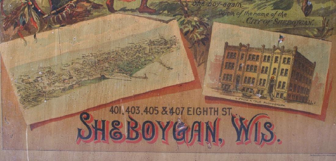 Sheboygan Boot & Shoe Co. Vintage Advertising Sign - 9