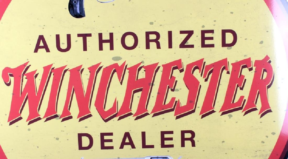 Authorized Winchester Dealer Advertising Sign - 5