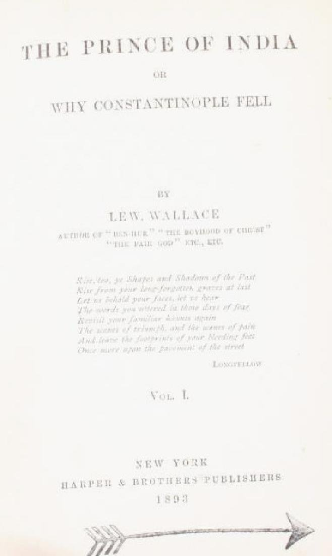 The Prince of India Lew Wallace Vols. I & II 1893 - 3