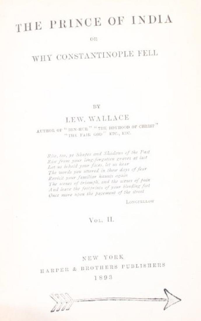 The Prince of India Lew Wallace Vols. I & II 1893 - 7