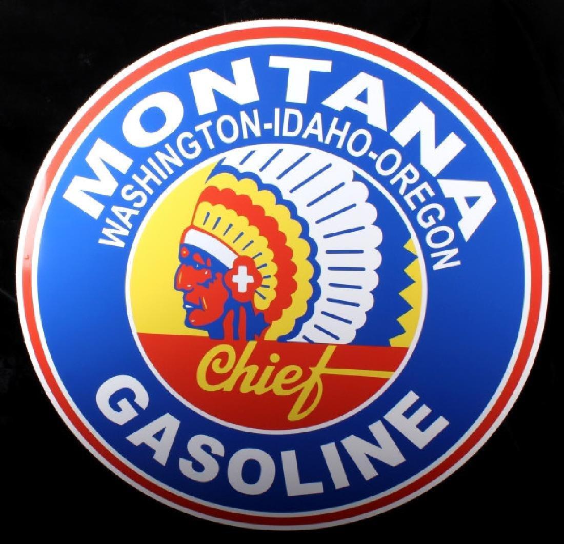 Montana Chief Gasoline Advertising Sign