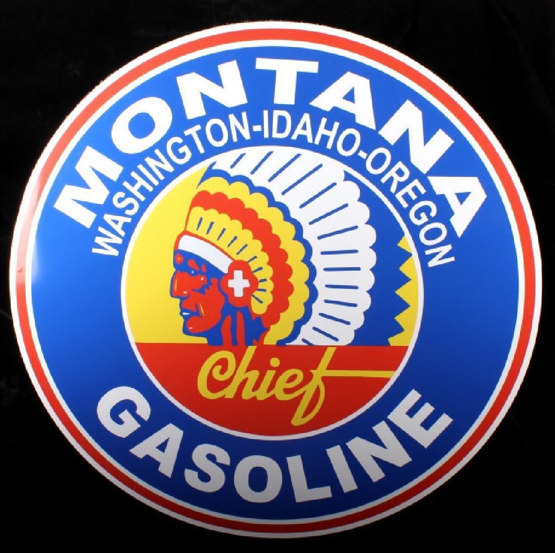 Montana Chief Gasoline Advertising Sign - 2