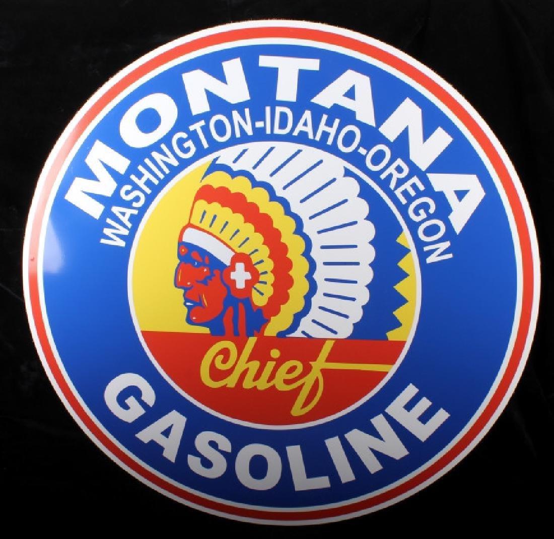 Montana Chief Gasoline Advertising Sign - 3
