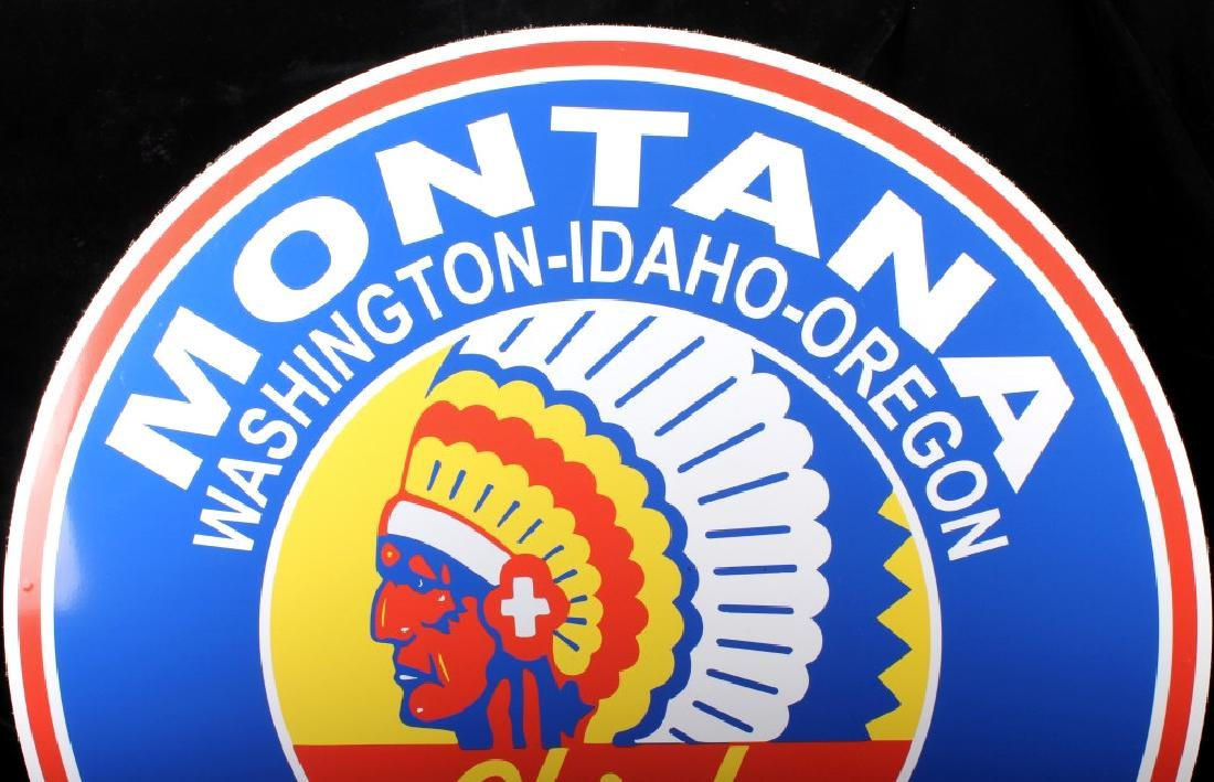 Montana Chief Gasoline Advertising Sign - 4