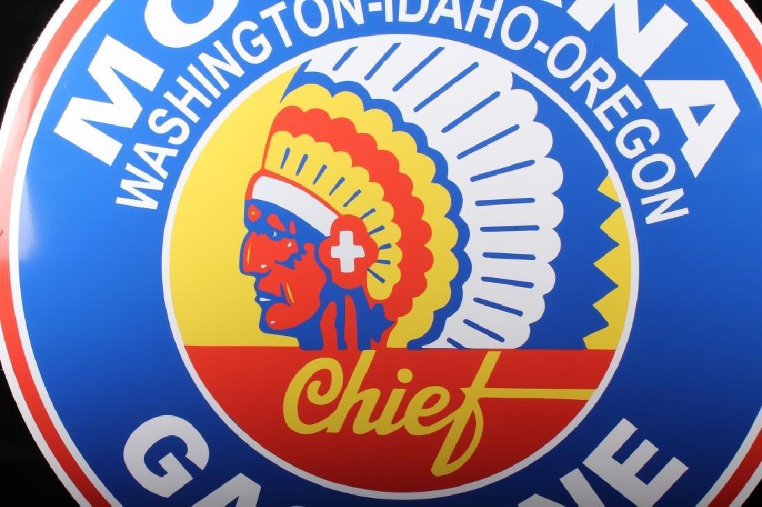 Montana Chief Gasoline Advertising Sign - 5