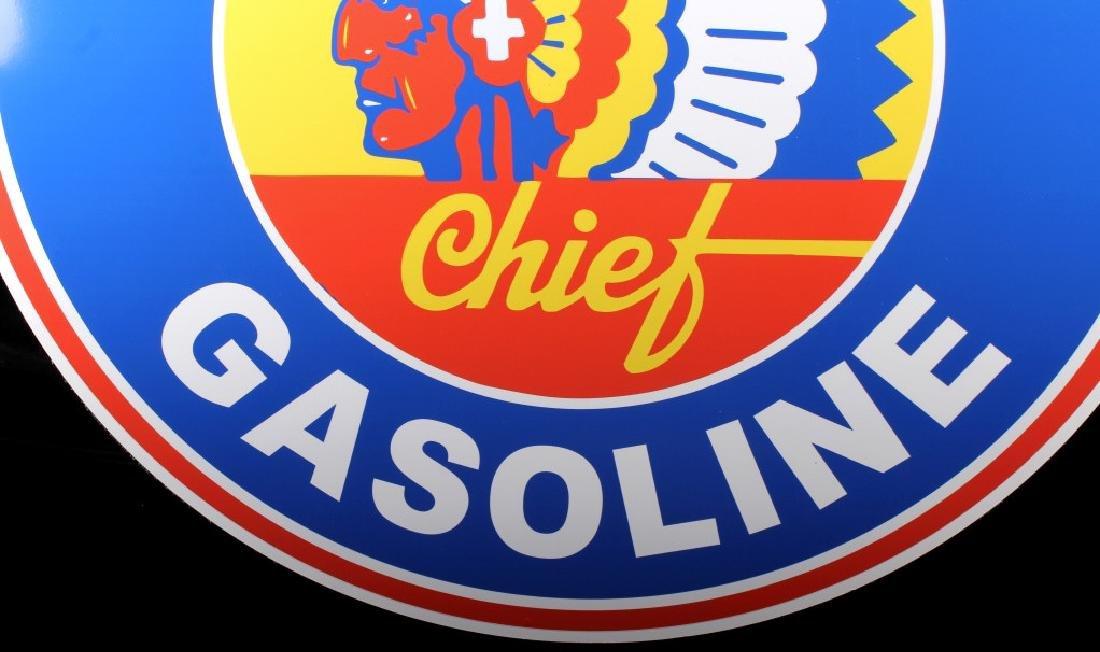 Montana Chief Gasoline Advertising Sign - 6