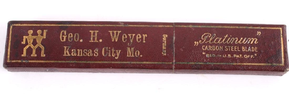Vintage G.H. Weyer Platinum Carbon Steel Razor - 6