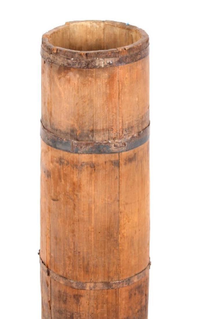 Tall Wooden Liquor Cane Barrel - 3