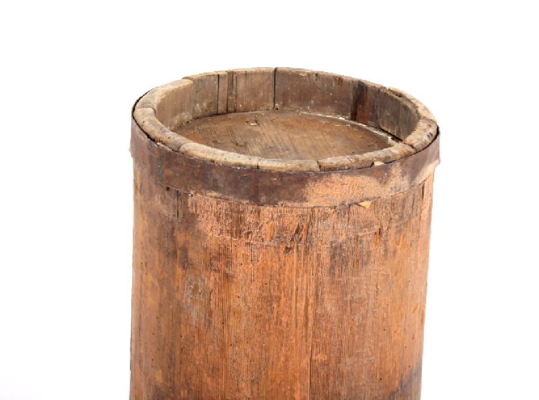 Tall Wooden Liquor Cane Barrel - 6
