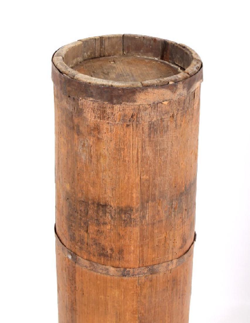 Tall Wooden Liquor Cane Barrel - 7