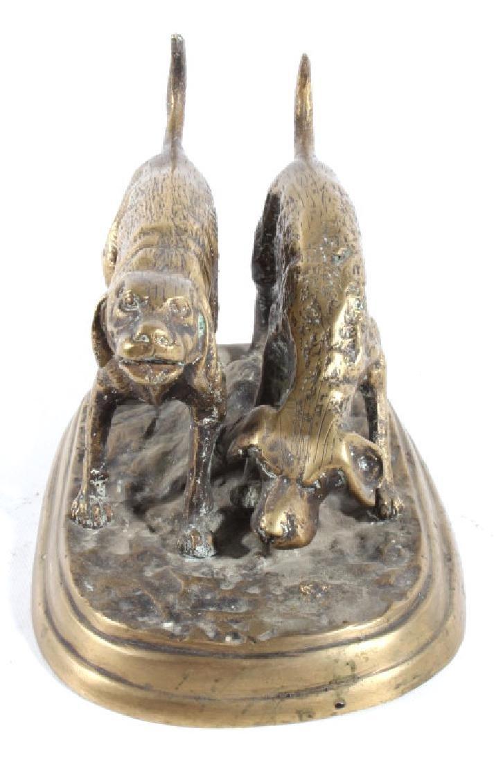Bronze Hound Dog Sculpture - 3