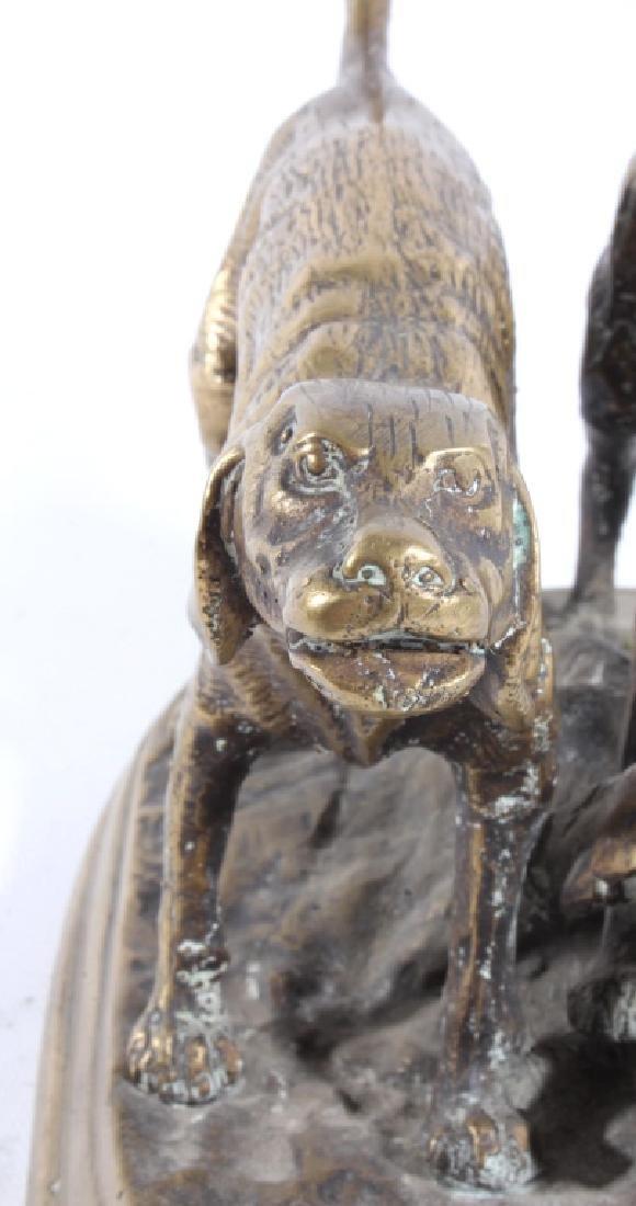 Bronze Hound Dog Sculpture - 4