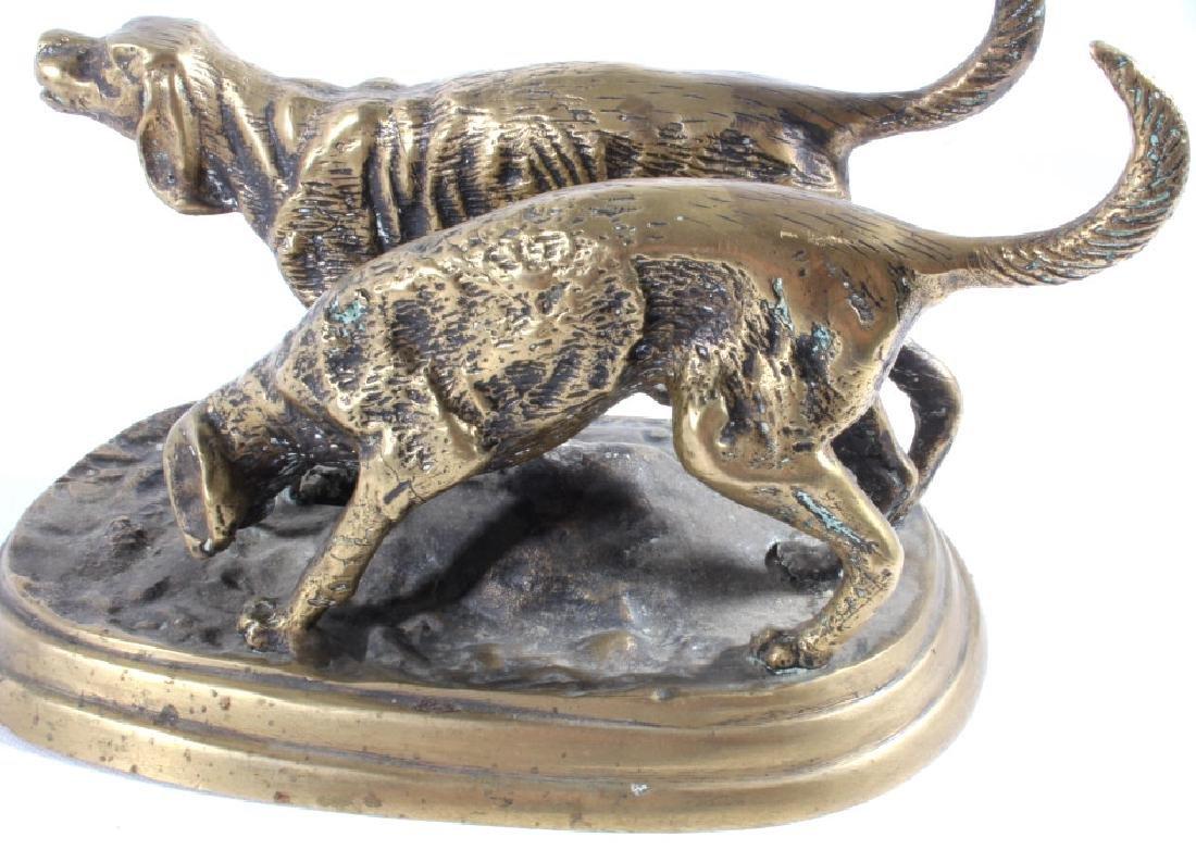 Bronze Hound Dog Sculpture - 7