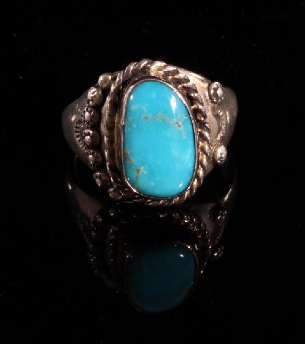 Native American Turquoise and Sterling Silver Ring