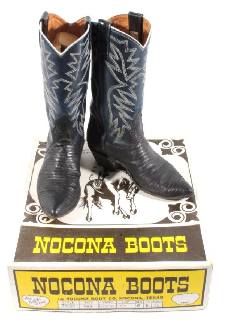 Nocona Leather and Lizard Boots in Box