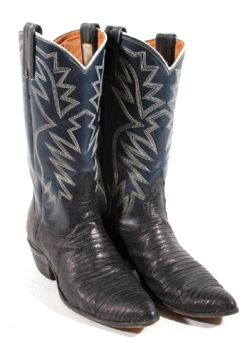 Nocona Leather and Lizard Boots in Box - 3