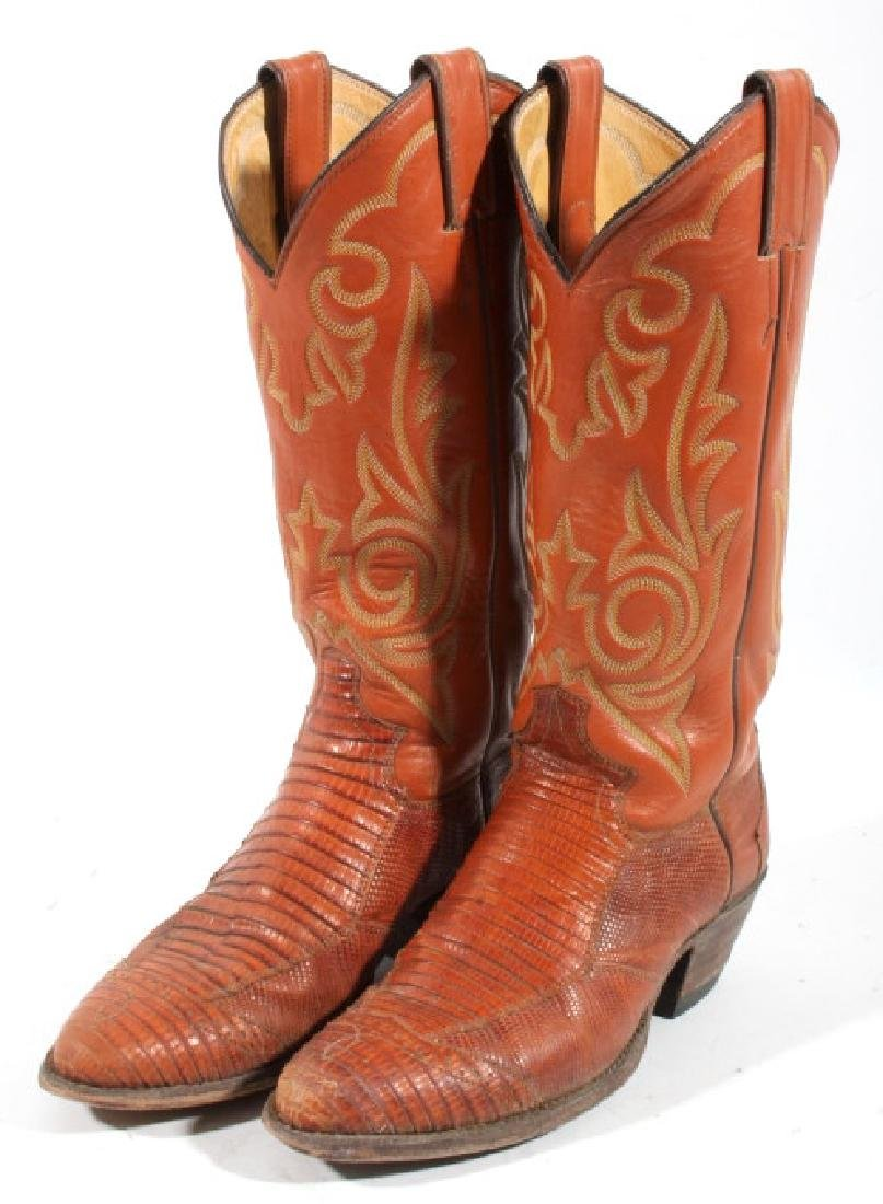 Justin Peanut Brittle Leather Boots - 2