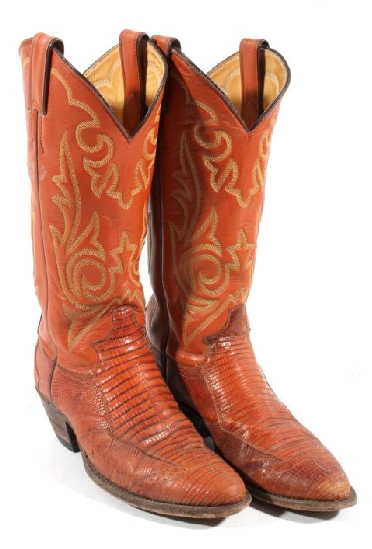 Justin Peanut Brittle Leather Boots - 3