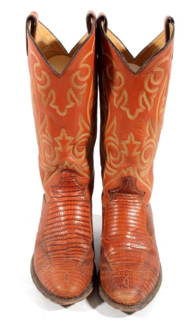Justin Peanut Brittle Leather Boots - 4