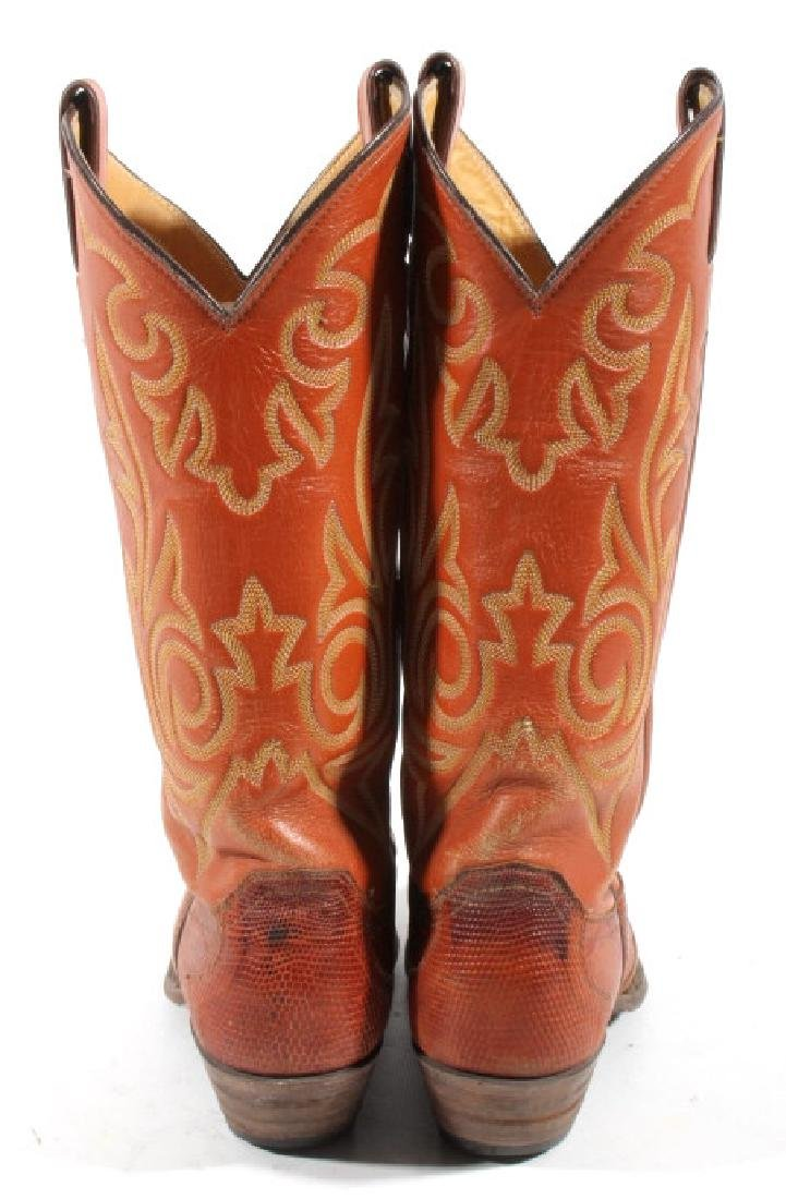 Justin Peanut Brittle Leather Boots - 6