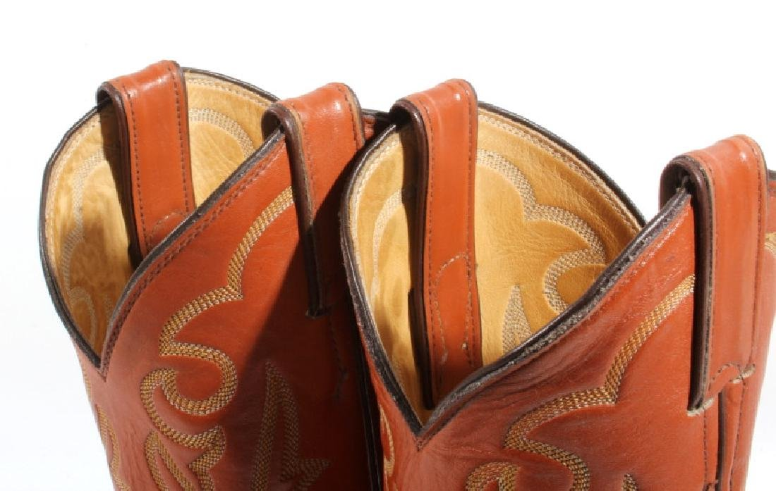 Justin Peanut Brittle Leather Boots - 8